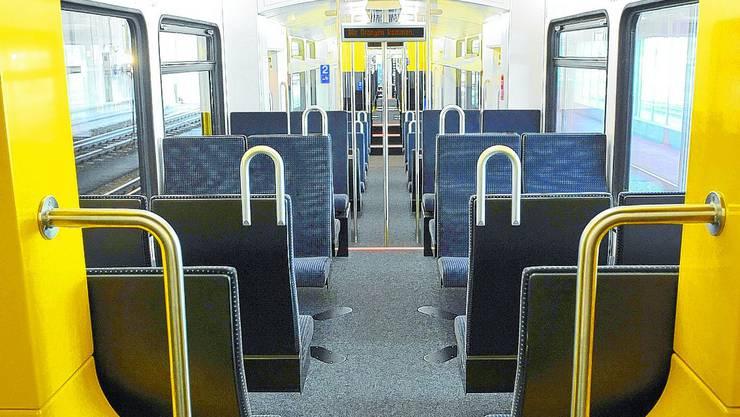 Grosszügig: Der Innenraum der 60 Meter langen Zugskomposition ist grösser, heller und durchgehend begehbar.