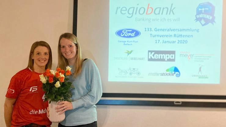 Die Unihockey WM Silbermedaillengewinnerin Mirjam Hintermann wird an der Generalversammlung geehrt.