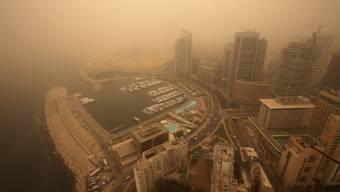 Ein Sandsturm fegt über den Nahen Osten