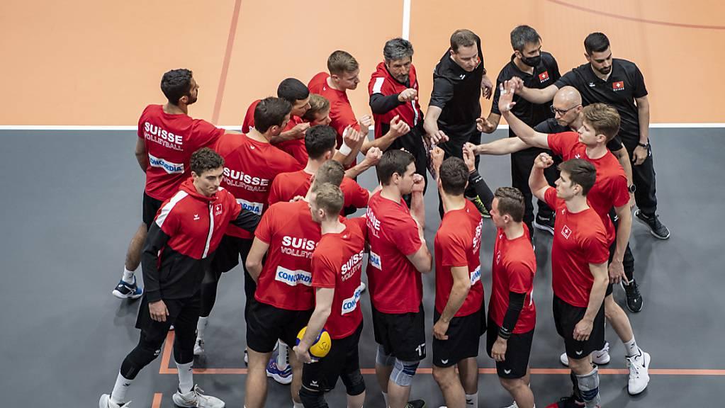 Die Schweizer Volleyballer bleiben gegen Albanien ohne Satzverlust.