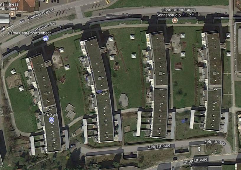 Das Wittenbacher Quartier Obstgarten (Printscreen: Google Maps)
