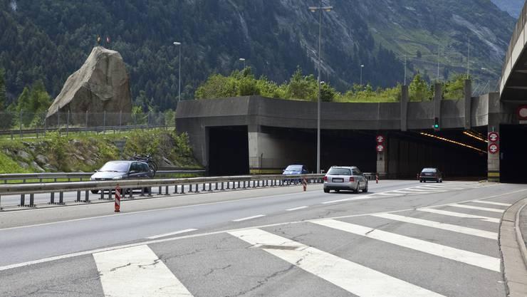 Gotthard-Nordportal bei Göschenen