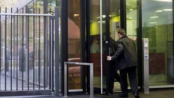 Der Eingang zum Basler Strafgericht.