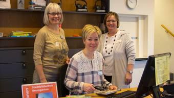 Beatrice Meier, Ines Ponca und Beatrice Wehrli-Burth haben immer ein offenes Ohr für Leserwünsche.