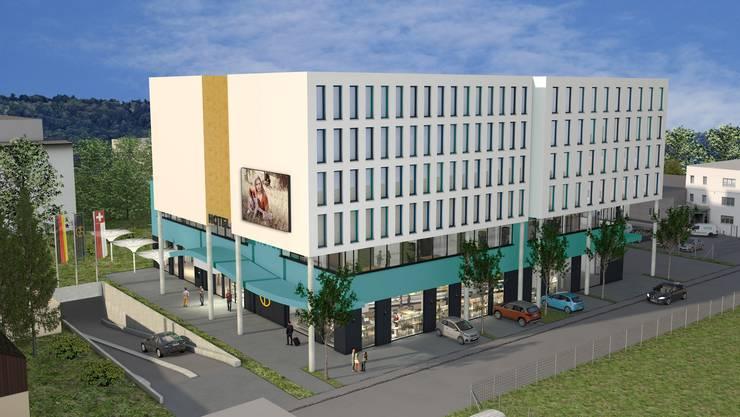 So soll dereinst das Hotel am Gerstenweg aussehen.