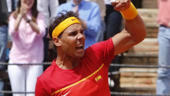 In alter Stärke zurück: Rafael Nadal spielt im Favis-Cup-Viertelfinal überragend