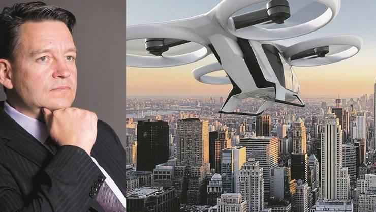 «Künftig wird man ein Lufttaxi per App zu sich rufen können», sagt Olivier L. de Weck, Professor für Aviatik und Raumfahrttechnologie.