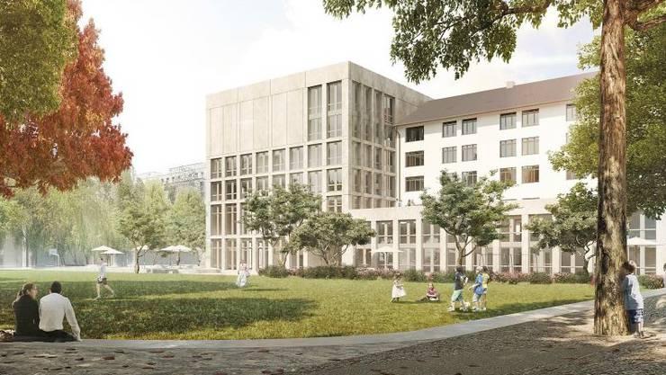 Im neuen Quartierzentrum Schütze stehen ab 19. August fünf Räume auf drei Etagen zur Miete zur Verfügung.