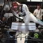 Sicherte sich für das letzte Rennen des Jahres die Pole-Position: Weltmeister Lewis Hamilton
