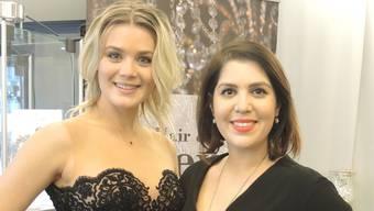 Gute Bekannte: Ex-Miss-Schweiz Dominique Rinderknecht (l.) und HochzeitsmesseVeranstalterin Beyza Tut.