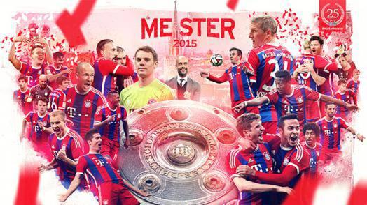 Der FC Bayern München ist zum 25. Mal deutscher Meister