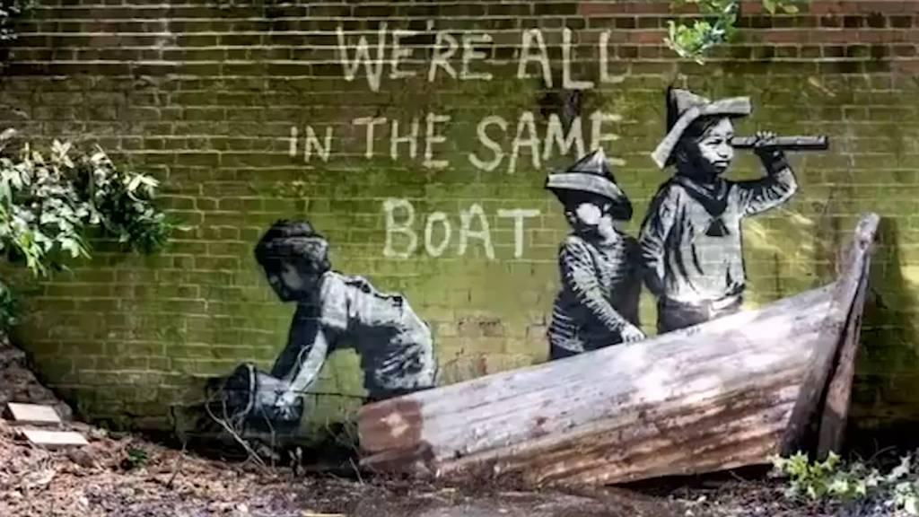 «Spraycation» - Banksy war wieder am Werk!