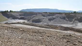Die heutigen Kiesvorräte im Materialabbaugebiet «Eichrüteli» sind bald erschöpft. Holcim plant deshalb eine Erweiterung. mhu