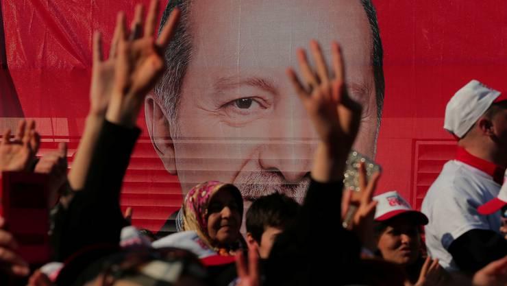 Erdogan-Sympathisanten während einer Rede des Präsidenten 2017 in Istanbul. Wer für ihn ist, hat wenig zu befürchten.