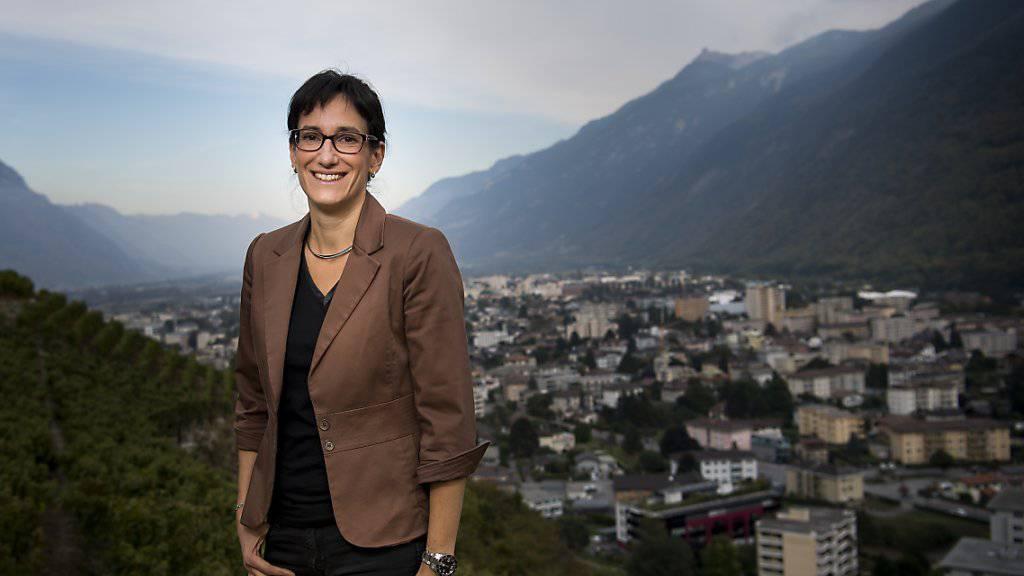 Anne-Laure Couchepin Vouilloz wurde am Sonntag zur Stadtpräsidentin von Martigny VS gewählt.