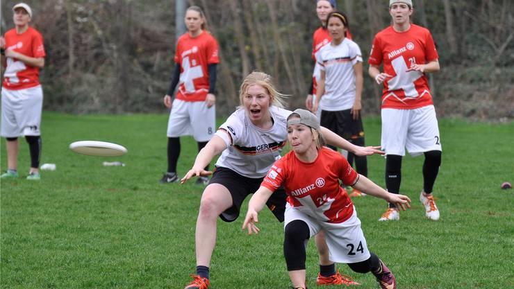 Deutschland und die Schweiz: Zwei der besten europäischen Teams treffen auch an der Frisbee-WM aufeinander. ZVG