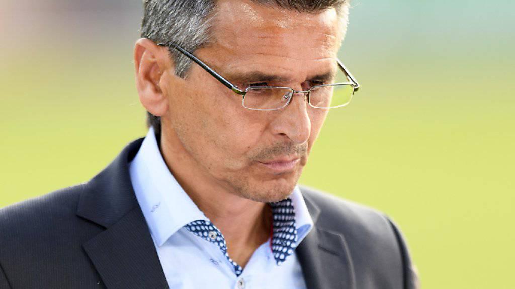 Boro Kuzmanovic steht am Sonntag in Lugano zum ersten Mal an der Seitenlinie des St. Galler Fanionteams