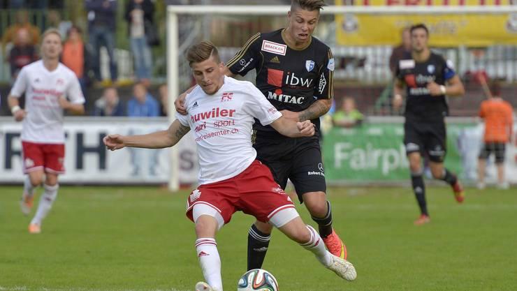 Michael Hohl (vorne) erzielte gegen Gossau den Treffer für Muri zum 1:0-Sieg.