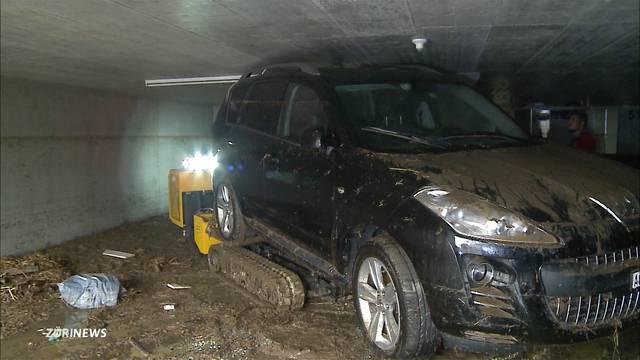 Ciao mein Auto! Vom Wasser zerstört.