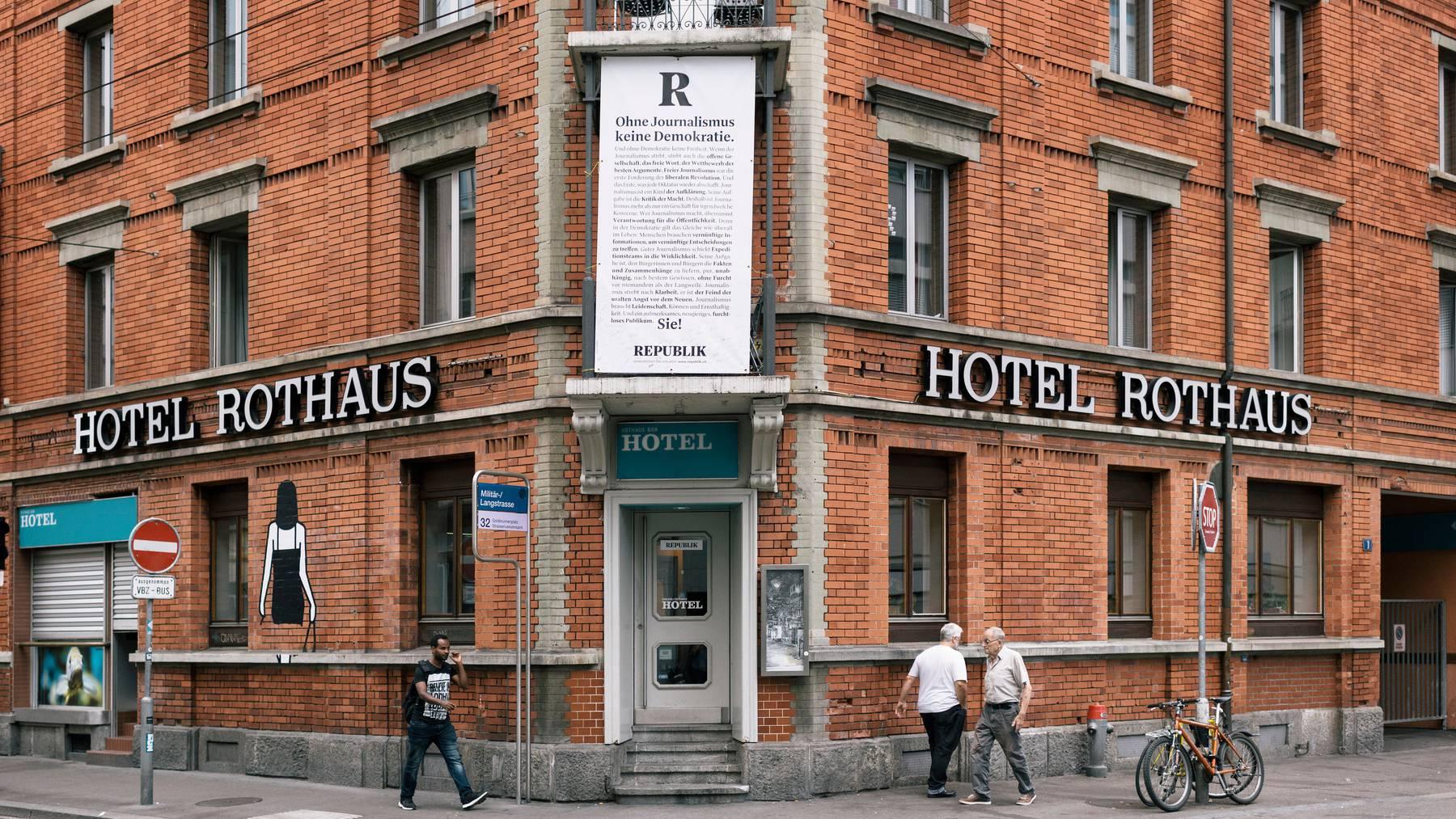 Die Redaktion der Republik befindet sich an der Langstrasse in Zürich.