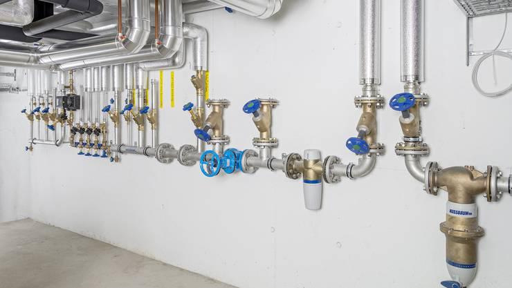Edelstahlrohre für die Trinkwasserleitungen der Firma R. Nussbaum AG