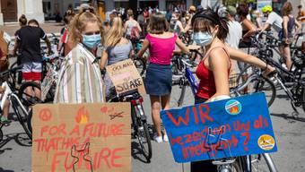 Die Klimaaktivisten radeln wieder