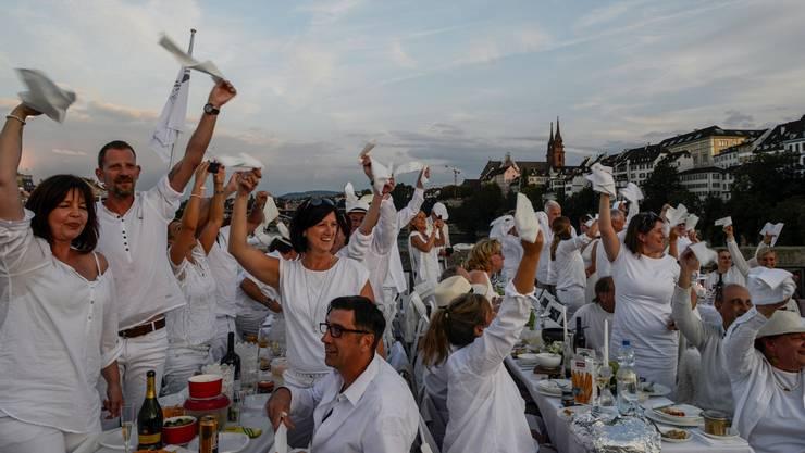 White Dinner 2015 in Basel.