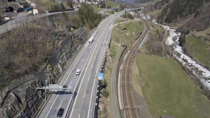 Für einmal kein Stau auf dem Gotthard am Osterwochenende.