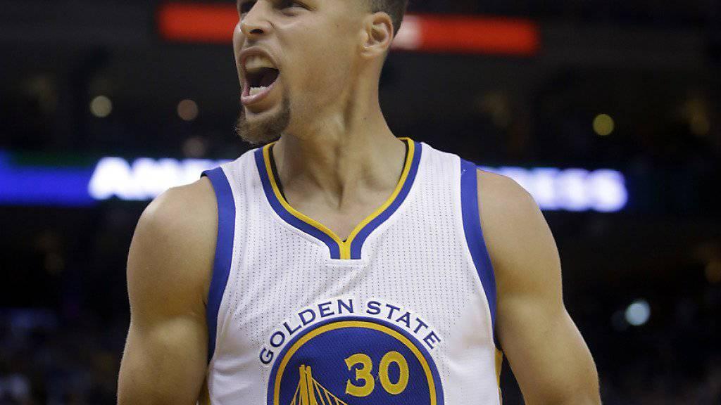 Stephen Curry erzielte gegen die Oklahoma City Thunder 33 Punkte