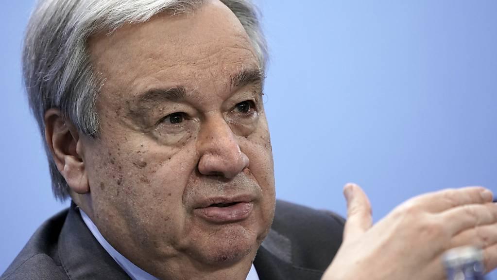 Antonio Guterres, Generalsekretär der Vereinten Nationen,will weitere fünf Jahre Generalsekretär der Vereinten Nationen bleiben. Foto: Michael Kappeler/dpa/Pool/dpa