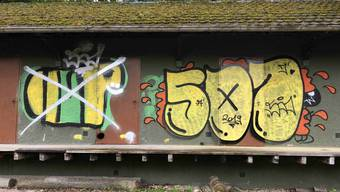 Sprayereien in Starrkirch-Wil