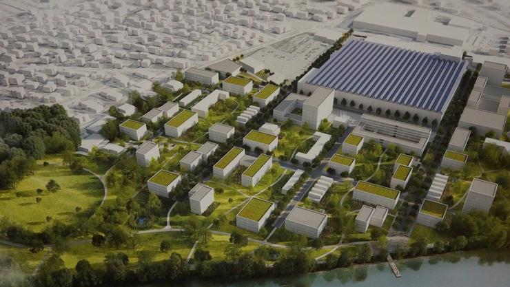 Im Riverside-Areal wird Wohnraum für die vielen Menschen geschaffen, die, laut Promotoren, ihr Glück in der Region suchen werden.