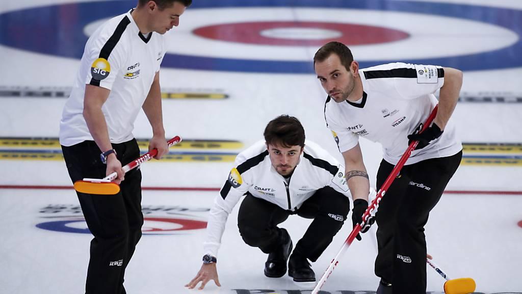 Schweizer Curler im Viertelfinal gegen die USA