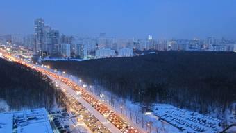 Stau-Hauptstadt Moskau