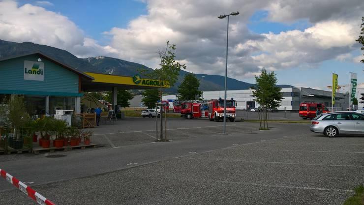 Am 31. Juli 2019 brannte ein Töff im Bereich der Tankstelle