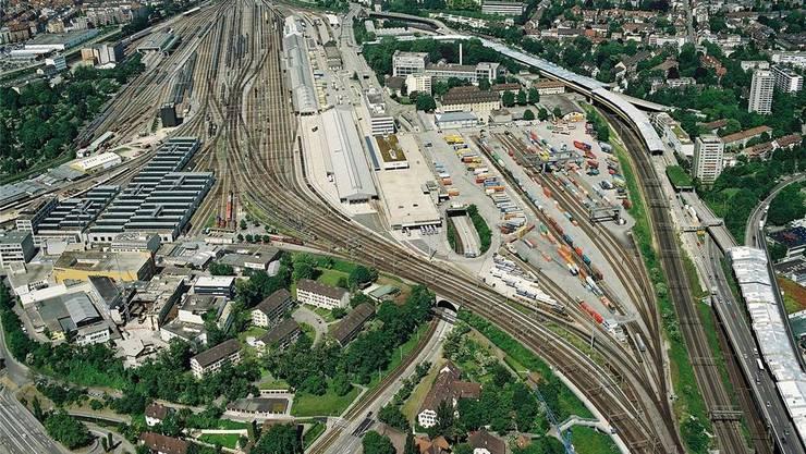 Auf dem Güterbahnhof Wolf soll in Zusammenarbeit mit den SBB eine auf Digitalisierung ausgerichtete, sogenannte «Smart City» entstehen.