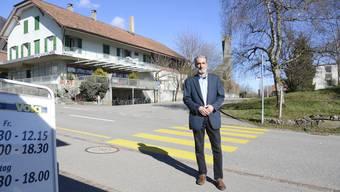 Gemeindepräsident Norbert Häberle hofft, im Lommiswiler Dorfkern Strukturen aufzubauen, die ein Dorfzentrum erkennen lassen.