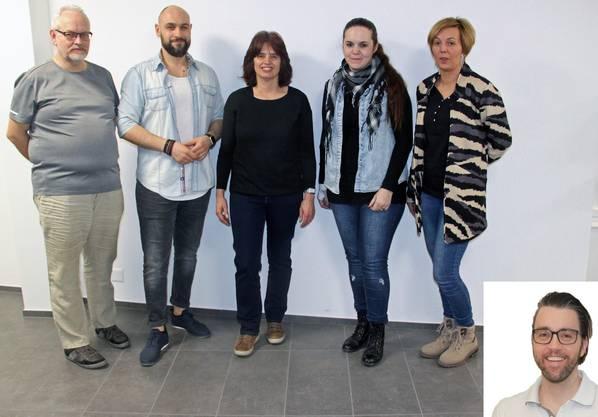 Neumitglieder von links nach rechts: Johann Jost, Michele Guerrisi, Christine Graber, Manuela Baumgartner, Michela Walker, Dr. Christian Turtschi (neuer Vereinsarzt)