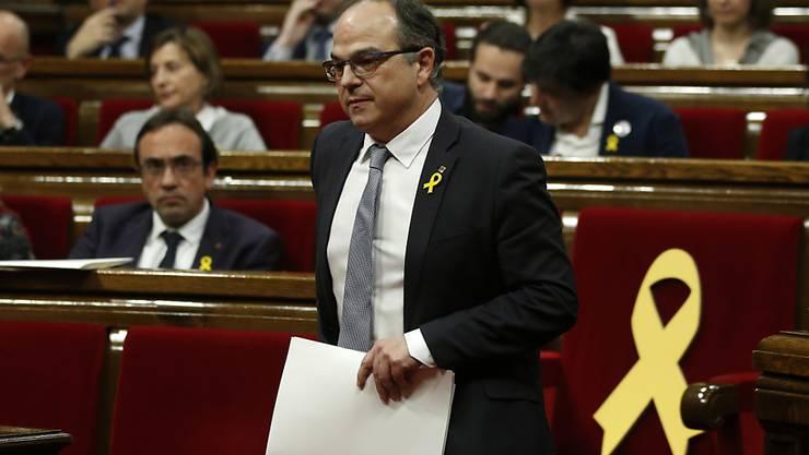 Die  kurzfristig angesetzte Wahl von Jordi Turulls zum neuen katalanischen Regionalpräsidenten ist verhindert worden.