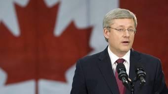 Premierminister Stephen Harper liegt mit seiner konservativen Regeirungspartei laut Umfragen in Führung