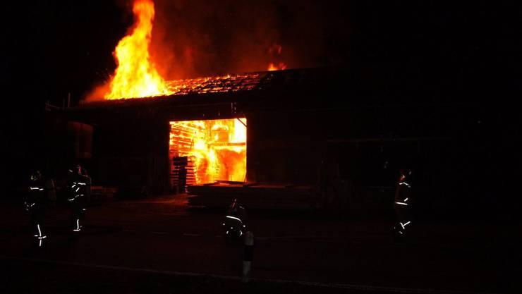 Das Gartenhaus brannte komplett ab, es wurde aber niemand verletzt. (Symbolbild)