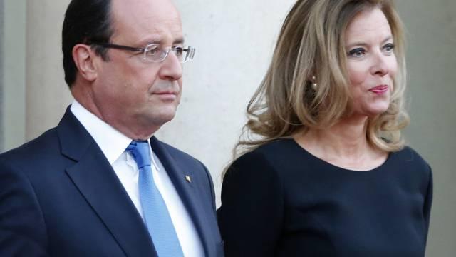 François Hollande und Valérie Trierweiler im Herbst 2013