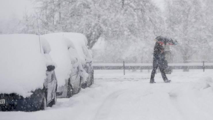Schneefall hüllte die Schweiz am Wochenende in einen prächtigen Wintermantel.