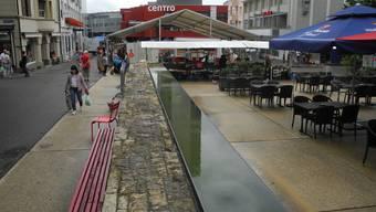 Der Märetplatz am Wochenmarkt vom Freitag.