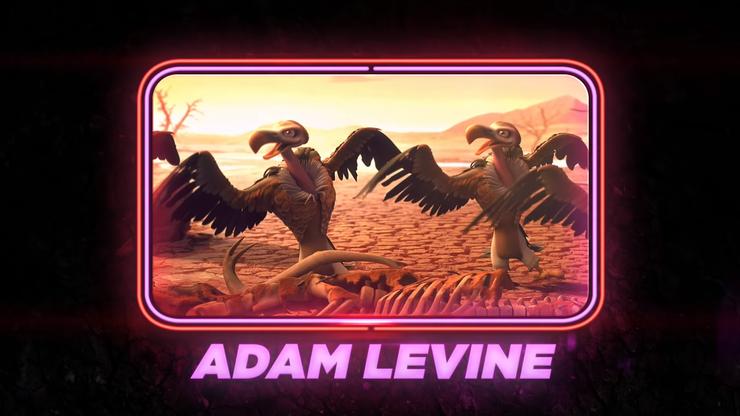 Adam Levine (Maroon 5) als Aasgeier
