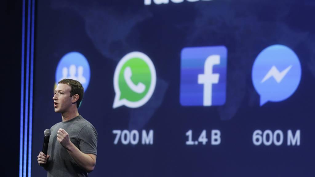 Frankreich will grosse Technologiekonzerne wie Facebook, Google und Apple mit einer Digitalsteuer belegen. DIe USA sehen darin eine Diskriminierung ihrer Konzerne und treiben Sanktionen gegen Frankreich voran. (Foto: Eric Risberg/AP/KEYSTONE-SDA)