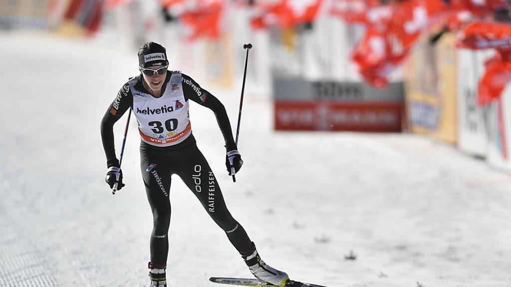 Nathalie von Siebenthal erreichte in La Clusaz einen weiteren Top-15-Platz
