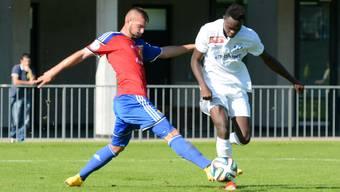 Adonis Ajeti und sein Basler U21-Team konnten im Leichtathletikstadion St. Jakob einen Sieg einfahren.