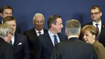 «Ich werde kämpfen für Grossbritannien», sagte Premier David Cameron (Mitte).