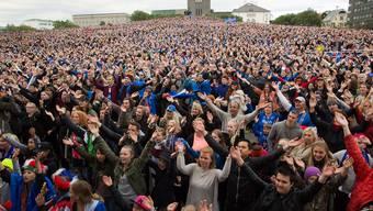15 000 Menschen auf dem Adlerhügel in Reykjavík, gegen Frankreich werden es noch mehr.